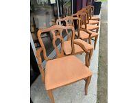 American cherry dining chair set