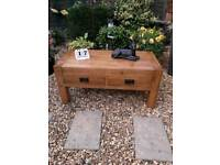 Oak furniture land quercus range solid rustic oak coffee table with four drawers.