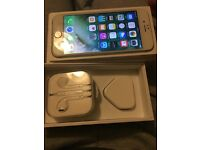 Iphone 6 silver 64gb o2, giffgaff, poor condition, fully working with box charger, headphones