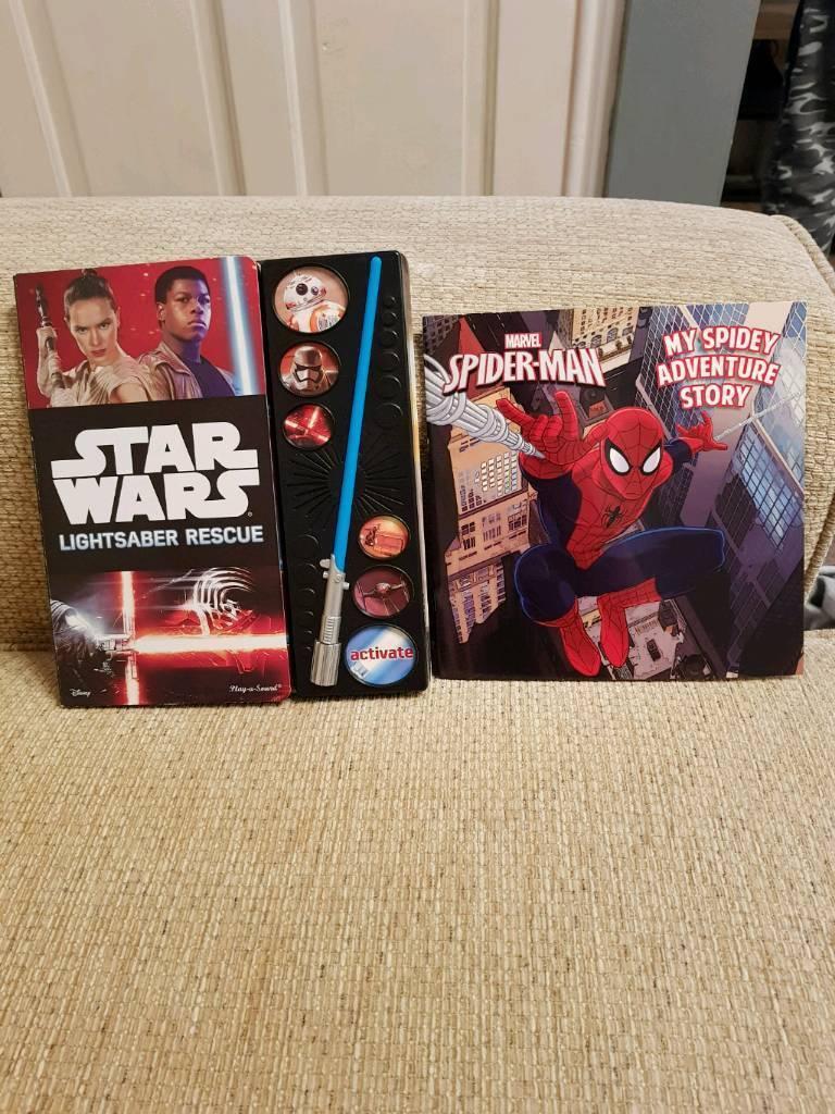 Spiderman & Star Wars book