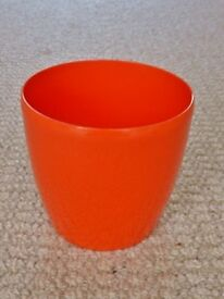 elho Brussels Diamond Intense Orange Round 14cm 1.4 Litre Plastic Indoor Plant Flower Pot