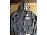 Hoodie - Hollister. Grey Size S. Fleece lined