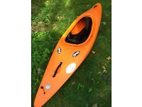 Kayak Dagger, paddle and water skirt,