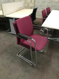 Red Canter Lever Stacking chairs