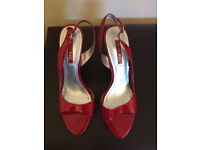 Nine West red heels Uk size 5 great condition