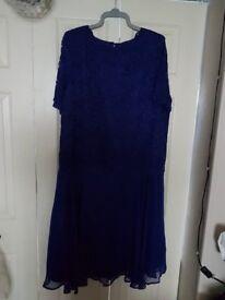 BLUE LACY DRESS