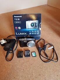 Panasonic Lumix TZ8 12.1megapixal Digital Camera. Box, instructions and accessories.