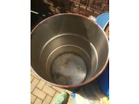 Large steel Drum / Barrel for BBQ, Burner etc