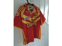 Catalans Rugby League Shirt - XL - Free Postage