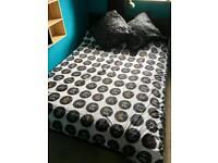 IKEA SULTAN, BLACK DOUBLE BED & MATTRESS