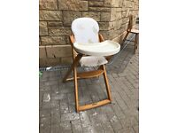 mamas and papas high chair wooden