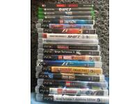 Mixture of Xbox one and PS3 games