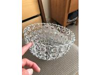 Crystal style lampshade uplighter
