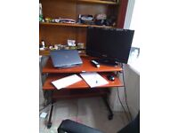 Work Desk / Table in excellent condition- with tyres for ease to move