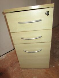 wooden document filing cabinet with lock & key