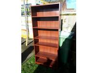 mahogany effect rall book case / shelf unit. Delivery available