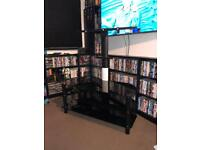 Glass black (floating affect) wall Bracket tv stand