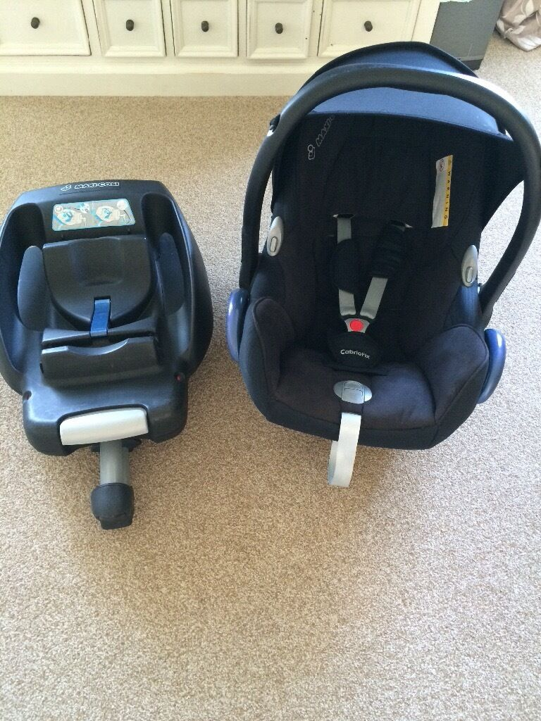 maxi cosi cabriofix car seat and easy base in bury st edmunds suffolk gumtree. Black Bedroom Furniture Sets. Home Design Ideas