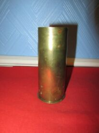 WW1 Naval 2 pounder Sub Calibre Brass Shell Display Case Dated 1917 & 1923