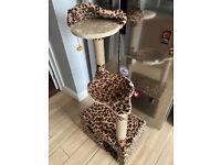 Cat tree, leopard print. new