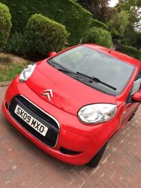 2009 Citroen C1 VTR Red 1.0l 5dr 1 Year M.O.T 4 Brand New Continental Tyres