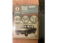 Auto books Rover 2000 - 2200 Owners Workshop Manual