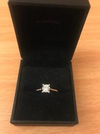 9ct White Gold Engagement Ring