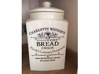 Charlotte Watson Bread Crock & Salt & Pepper Cruet Set New Bargain