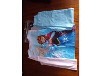 Disney Frozen Themed Clothes, age 7-8 Brand New Pyjamas and Long Sleeved Top