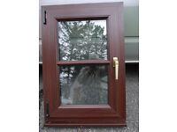 Mahogany Tilt and Turn UPVC window 600 x 900