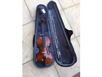 Brand new stagg full size violin +case+bow