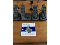 Cordless Phones (4 handsets) BT Freelance XD8500 & answering machine
