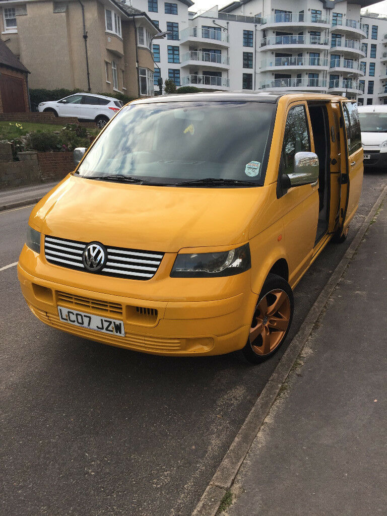 30d9815895 VW t5 Transporter 1.9TDI Day Surf Van Yellow LWB