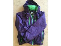 Nevica waterproof windproof skiing snowboarding purple&green jacket size M