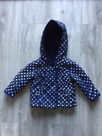 Baby girls padded coat 6-9 m