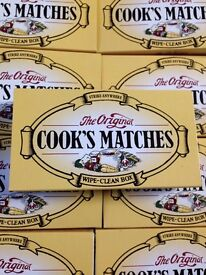 12 x BOXES ORIGINAL COOKS STRIKE ANYWHERE MATCHES