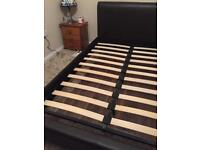 Double bed frame faux leather