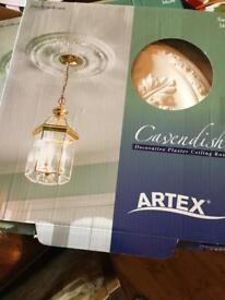 Two artex ceiling roses