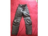 Ladies leather motorbike trousers for sale.