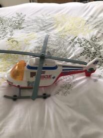 A Rescue Heroes large Toy Helicopter, moving, Blades, Winch, Noises. Etc. Was £40, Sell £6