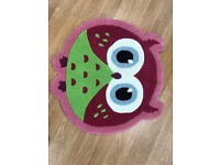 Kids Bedroom Playroom Owl 80 x 80 Pink
