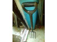 New garden spade and fork