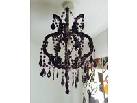 Purple chandelier from Next