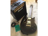 Ibanez AR250BK + Marshal amp and Accessories