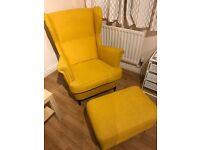 IKEA Wing chair STRANDMON with Footstool