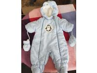 Baby boy pramsuit and coat