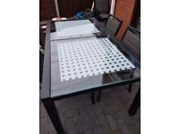 Large patio table and chairs