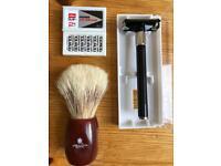 Feather safety DE razor kit