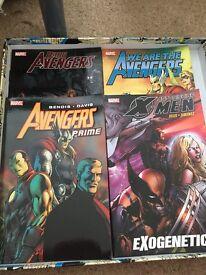 4 MARVEL COMICS/GRAPHIC NOVELS - avengers and xmen