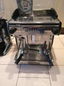 1 group Expobar commercial coffee machine , 5 Ltr Instanta hot water boiler , coffee bean grinder